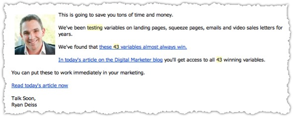 Get Clicks Email Newsletter