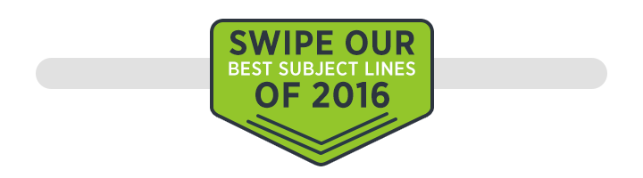 Swipe out best email subject lines of 2016