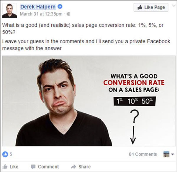 comment to Messenger ad example