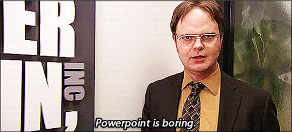 PowerPoint tip meme with Dwight