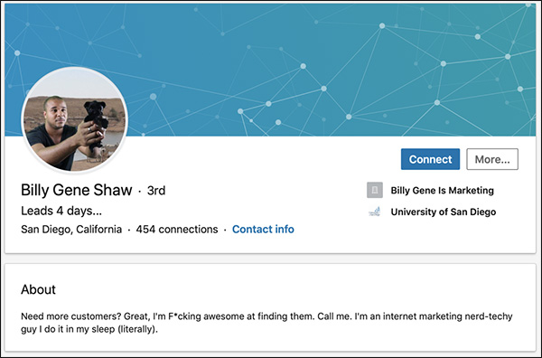 Billy Gene Shaw's LinkedIn Summary